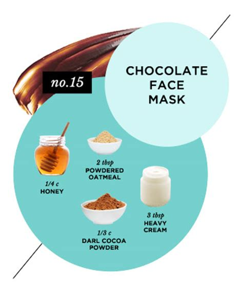 easy diy masks recipes skin reviving chocolate mask 15 masks