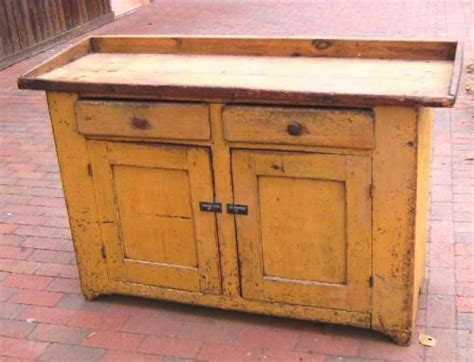 vintage dry sink cabinet new england country mustard painted pine dry sink c1830
