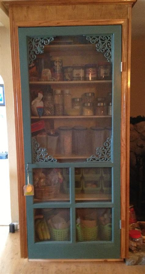 Vintage Pantry Door by Screen Door Turned Pantry This Is What I Wanted To Do