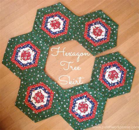 hexagon christmas tree skirt pattern so sew easy