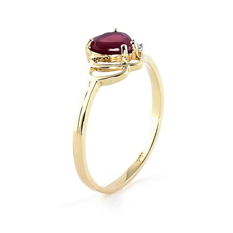 Ruby 4 9ct ruby and devotion ring 1 0ct in 9ct gold 4335y