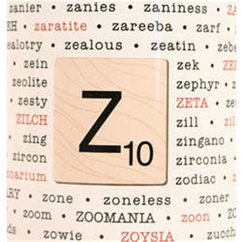 scrabble words with letter z scrabble words with z
