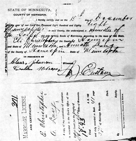 Minneapolis Marriage Records Sources