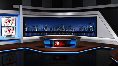 Is Back Room Real by The Real Tv News Studio Loopable Stock Footage