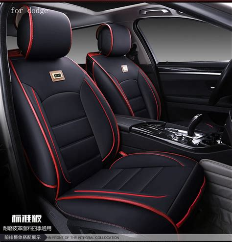 Cover Sarung Set Jok Mobil Accecoris Interior Mobil Sarung Jok Chanel for dodge ram charger durango journey black waterproof soft pu leather car seat covers brand