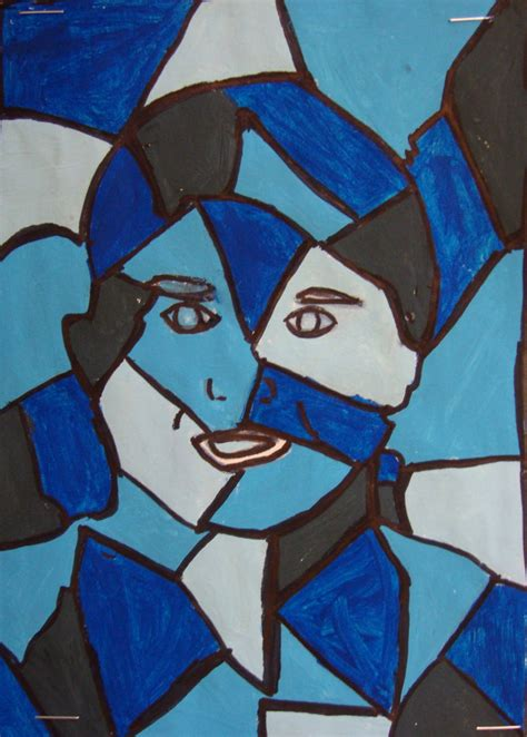picasso paintings easy paper scissors glue cubist portraits