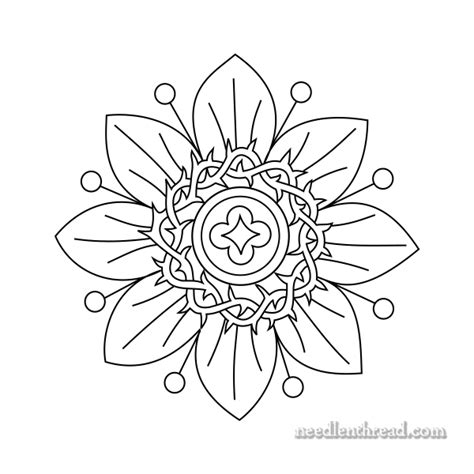 black and white embroidery patterns small passion flower free hand embroidery pattern