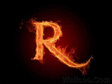 R R Fireplace by Fiery Letter R Aphabets Letters A Z Picture