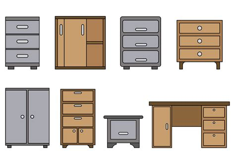 Free Filing Cabinet Set Of File Cabinet Vector Free Vector Stock Graphics Images