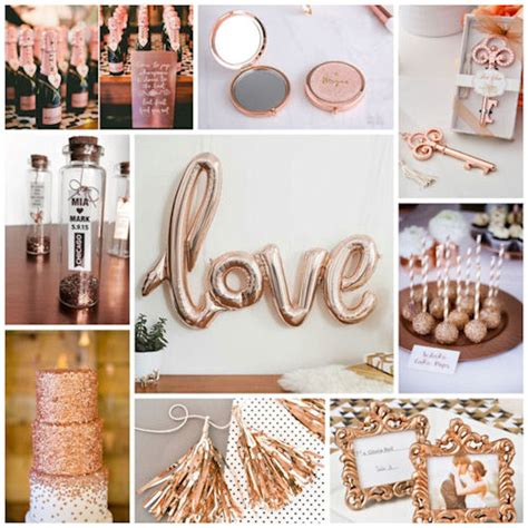 wedding themes rose gold rose gold wedding little things favors