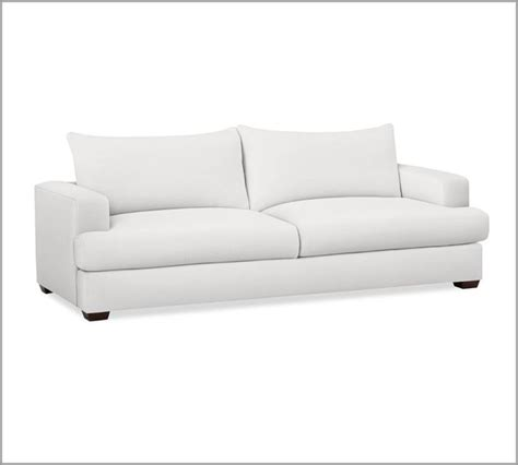 contemporary white sofa hton sofa white contemporary sofas by pottery barn