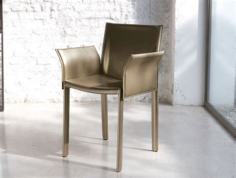 unico contemporary accademia leather dining chair with arms