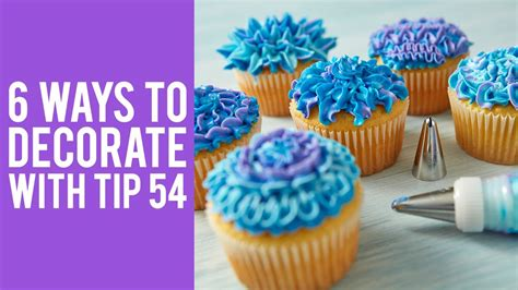 how to decorate cupcakes at home how to decorate cupcakes with tip 54 youtube
