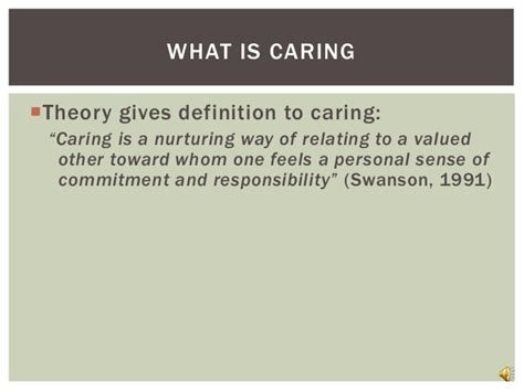 Is Caring by Theory Of Caring