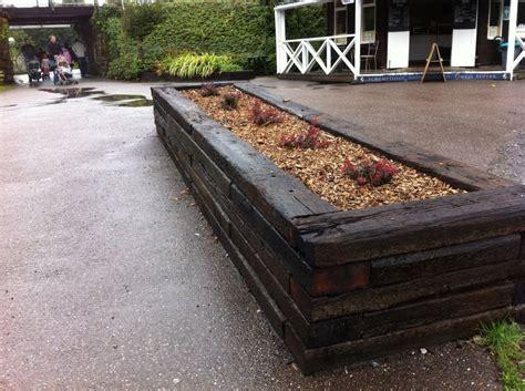 Railway Sleeper Bed by Buckfastleigh Raised Bed With Railway Sleepers