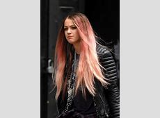 Amber Heard reveals new pink hairstyle - Photo 1 Red To Blonde Ombre Hair Tumblr