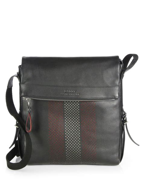 Bag Bally Black Kode 5002 lyst bally perforated trainspotting crossbody bag in black for