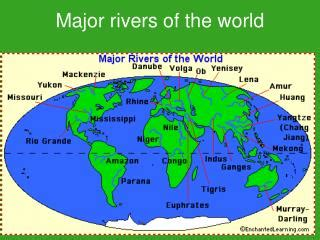 world map of large rivers ppt world s tunnel powerpoint presentation