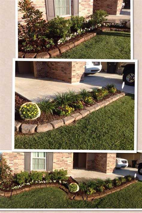 simple front flower bed design flower gardening outdoors pinterest flower bed designs