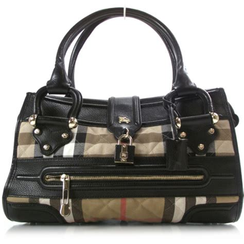 Burberry Icons Quilted Grand Manor Tote by Burberry Manor Bag