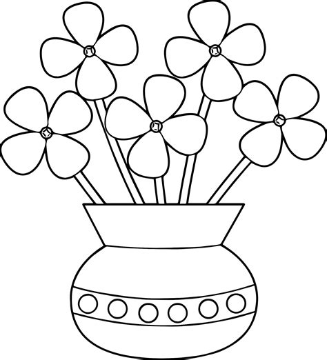 coloring pages of flowers in a pot flowerpot flower coloring page wecoloringpage