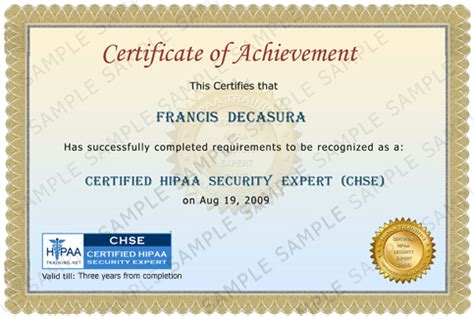 hipaa certificate template hipaa certification course template hipaa compliance