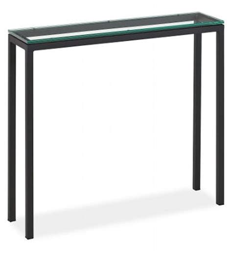 Narrow Glass Console Table Glass Top Console Table Narrow