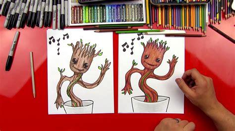 draw baby groot art  kids hub