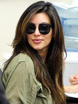kim kardashians new hair color will make you do a double take sweet kim kardashian debuts chocolate brown hair color