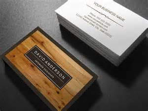 business cards wood professional modern wood grain look sided standard