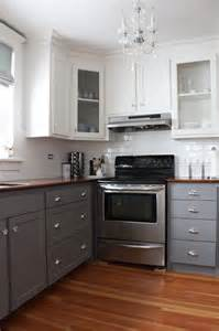 Kitchen cabinets using two different colors butik work
