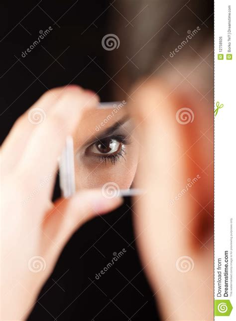 black mirror z eyes eye in mirror royalty free stock image image 12758926