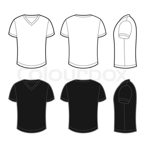 Kaos Distro White Black Pocket front back and side views of white and black blank t
