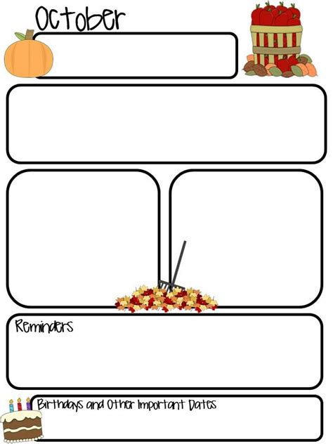 templates for the classroom monthly editable newsletter free follow me for updates
