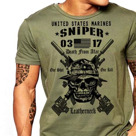 usmc scout sniper 0317 t shirt us marines one shot one