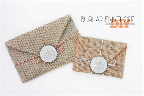 How To Make An Envelope Out Of Wrapping Paper - diy burlap envelope hollydolly