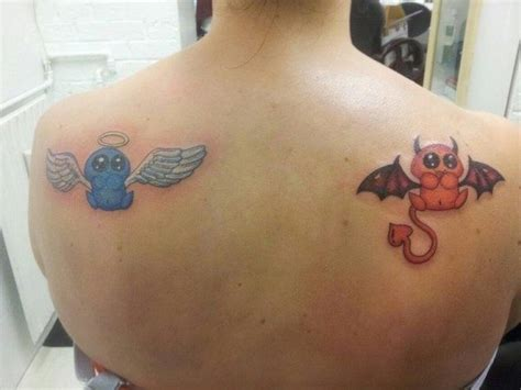 angel and devil tattoo designs 111 tattoos designs ideas with meanings