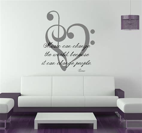 music decals for bedroom music change world u2 bono the edge vinyl wall art