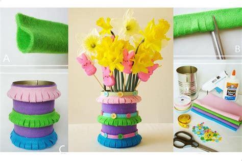spring diy diy felt spring vase diy projects usefuldiy com