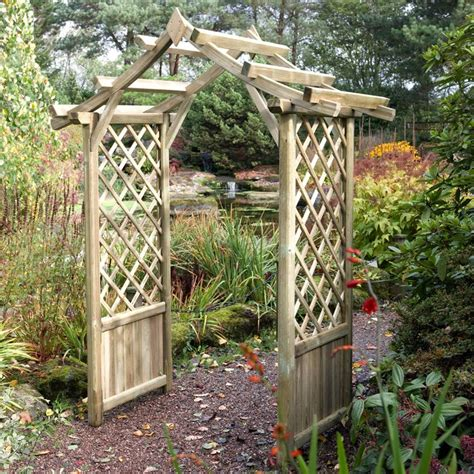 Garden Arches Uk Best Price Blooma Wooden Garden Arch What Shed