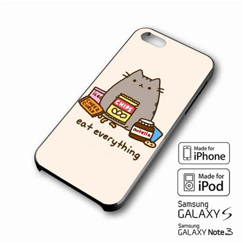 Tongsis Phone Holder U Size M 5 8 5cm Kepala Holder Tongsis U pusheen the cat eat every thing iphone from xavanza cuddles