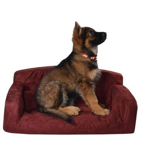 dog settees designer pet sofa dog bed red pink faux suede lounge