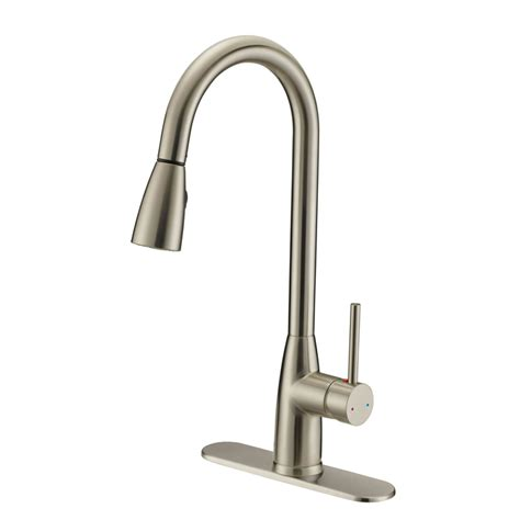satin nickel kitchen faucets designers impressions 614722 satin nickel kitchen faucet