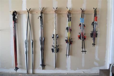 Wooden Ski Rack by Diy Ski Storage Rack