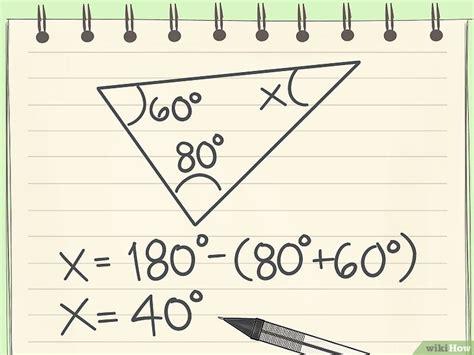 quanto misurano gli angoli interni di un triangolo come calcolare gli angoli 8 passaggi illustrato