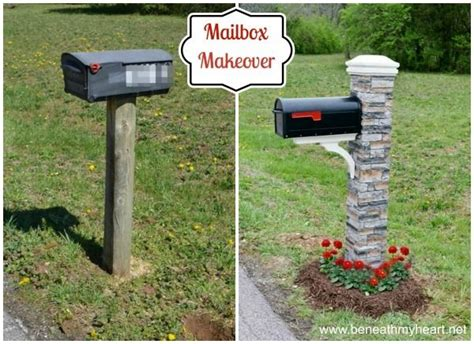 curb appeal mailbox mailbox makeover improving curb appeal diy backyard