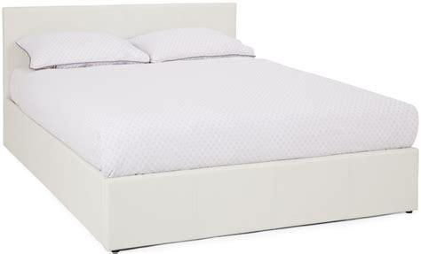 Buy Serene Tivoli White Leather Ottoman Bed Online Cfs Uk White Leather Ottoman Bed