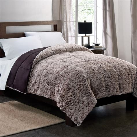 thick down alternative comforter colormate gray plush down alternative textured comforter
