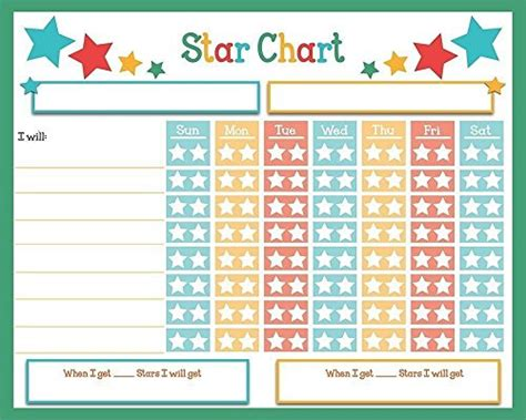 printable star charts for toddlers dry erase reward chore chart 16 quot x 13 quot multiple