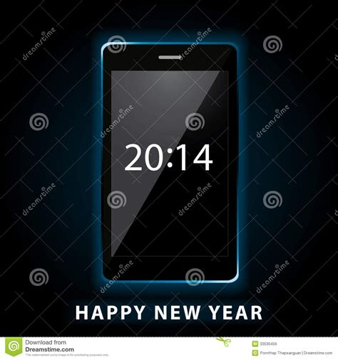 happy new year phone royalty free stock images image